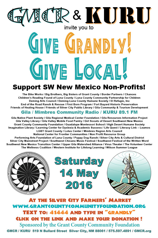 Support GMCR and 40+ local non-profits at Give Grandly!