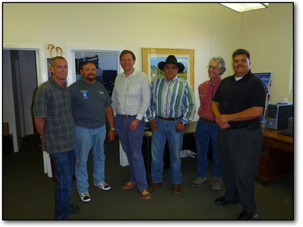 "Left to right... Moses Clark, Charles William ""Butch"" Cassady, Nick Seibel, Raymond ""Ray"" Tavizon, Jr, Jamie Newton, Raul D.  Villanueva"
