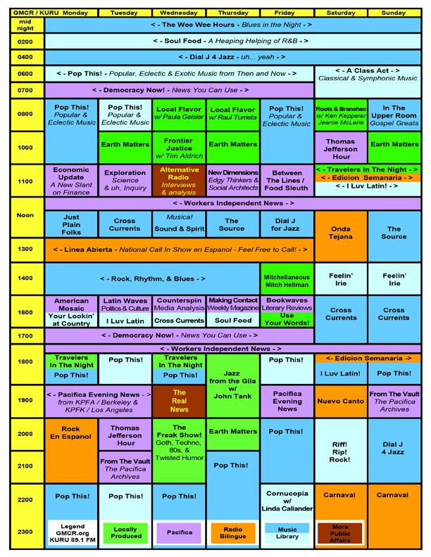 GMCR / KURU Program Schedule